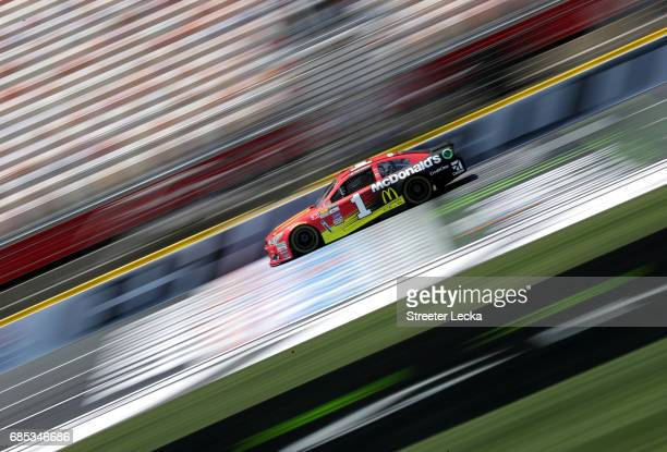 Jamie McMurray driver of the McDonalds Chevrolet drives during practice for the Monster Energy NASCAR AllStar Race at Charlotte Motor Speedway on May...
