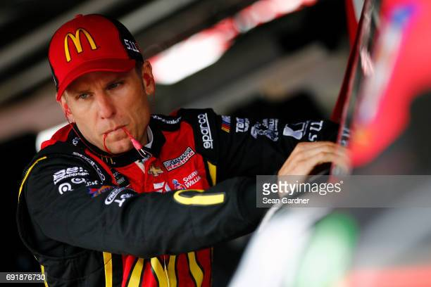 Jamie McMurray driver of the McDonald's Chevrolet looks on during practice for the Monster Energy NASCAR Cup Series AAA 400 Drive for Autism at Dover...