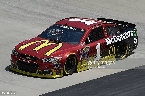 Jamie McMurray driver of the McDonald's Chevrolet practices for the NASCAR Sprint Cup Series Food City 500 at Bristol Motor Speedway on April 14 2016...