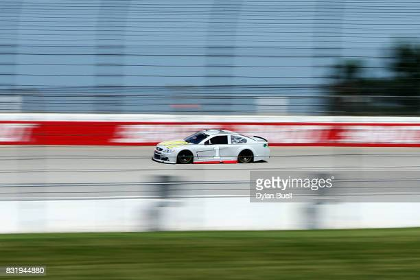 Jamie McMurray driver of the McDonalds/Cessna Chevrolet drives during testing for the Monster Energy NASCAR Cup Series at Chicagoland Speedway on...