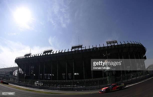 Jamie McMurray drives his Havoline Dodge Intrepid during the practice for the Telcel Mexico 200 Nascar Busch Series Race on March 4, 2005 at the...