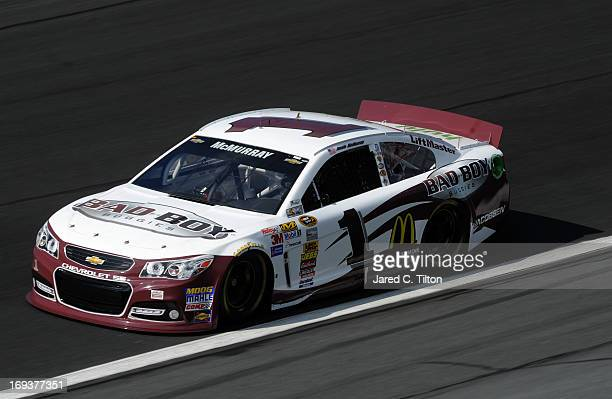 Jamie McMurray drives the Bad Boy Buggies Chevrolet during practice for the NASCAR Sprint Cup Series CocaCola 600 at Charlotte Motor Speedway on May...