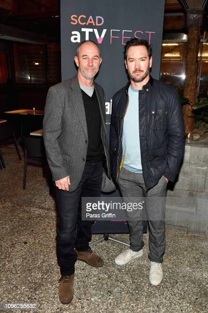 Jamie McShane and MarkPaul Gosselaar attend the SCAD aTVfest and Entertainment Weekly party at Lure on February 8 2019 in Atlanta Georgia