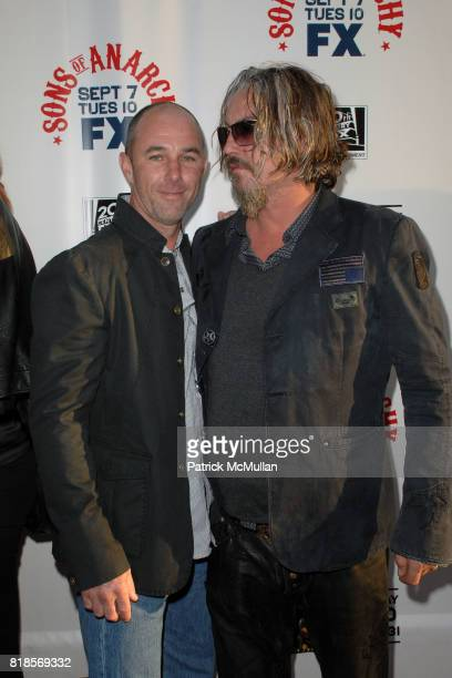 Jamie McShane and Tommy Flanagan attend SONS OF ANARCHY Los Angeles Premiere at The Arclight Theatre on August 30 2010 in Hollywood CA