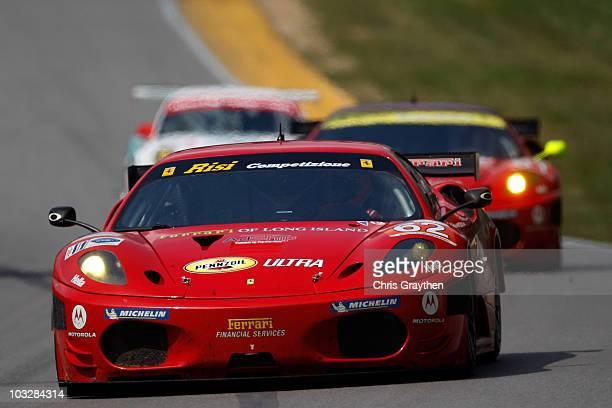Jamie Melo and Gianmaria Bruni drive the Risi Competizione Ferrari during the MidOhio Sports Car Challenge at the MidOhio Sports Car Course on August...