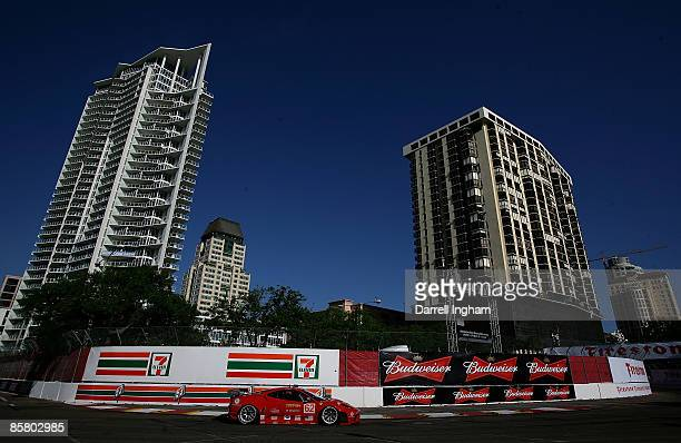 Jamie Melo drives the GT2 Risi Competizione Ferrari 430 GT during the American Le Mans Series Acura Sports Car Challenge of St Petersburg on April 4...