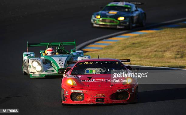 Jamie Melo of Brazil driving the Risi Competizione Ferrari 430 GT during the 77th running of the Le Mans 24 Hour race at the Circuit des 24 Heures du...