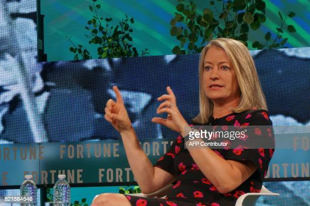 Jamie Miller GE Senior Vice President and CEO GE Transportation speaks July 18 2017 during the Fortune Brainstorm Tech conference in Aspen Colorado /...