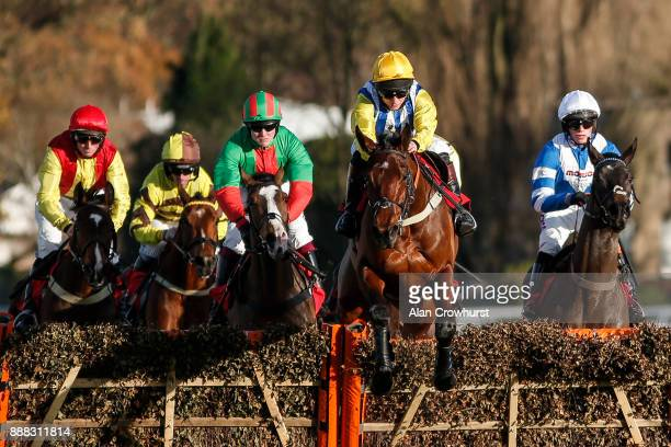 Jamie Moore riding Sussex Ranger lead all the way to win The Tokio Marine Kiln Introductory Juvenile Hurdle Race at Sandown Park racecourse on...