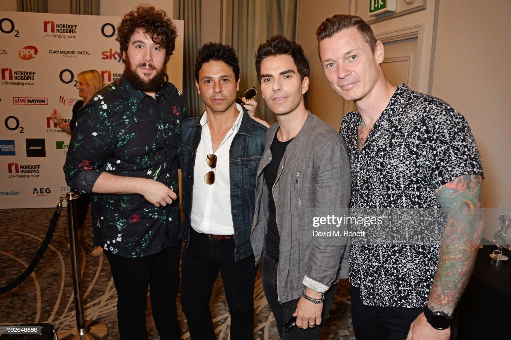 Jamie Morrison, Adam Zindani, Kelly Jones and Richard Jones attend the Nordoff Robbins O2 Silver Clef Awards at The Grosvenor House Hotel on July 6, 2018 in London, England.