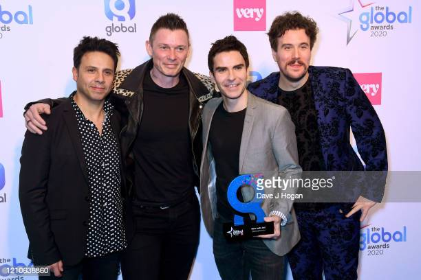 Jamie Morrison Adam Zindani Kelly Jones and Richard Jones of Stereophonics with the Best Indie Act Award during The Global Awards 2020 at Eventim...