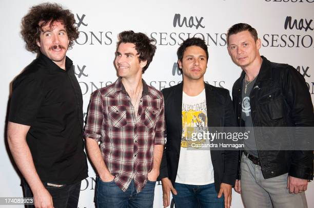 Jamie Morrison Kelly Jones Adam Zindani and Richard Jones arrive at the Stereophonics performance at Seymour Theatre on July 20 2013 in Sydney...