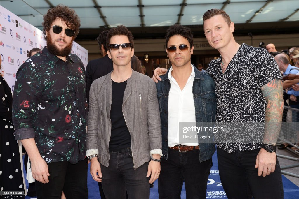 Jamie Morrison, Kelly Jones, Adam Zindani and Richard Jones of the Stereophonics attend the Nordoff Robbins' O2 Silver Clef Awards at Grosvenor House, on July 6, 2018 in London, England.