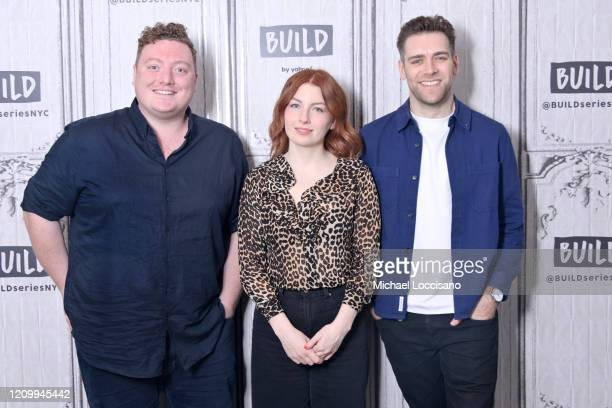 Jamie Morton Alice Levine and James Cooper visit Build to discuss their podcast My Dad Wrote a Porno at Build Studio on March 02 2020 in New York City