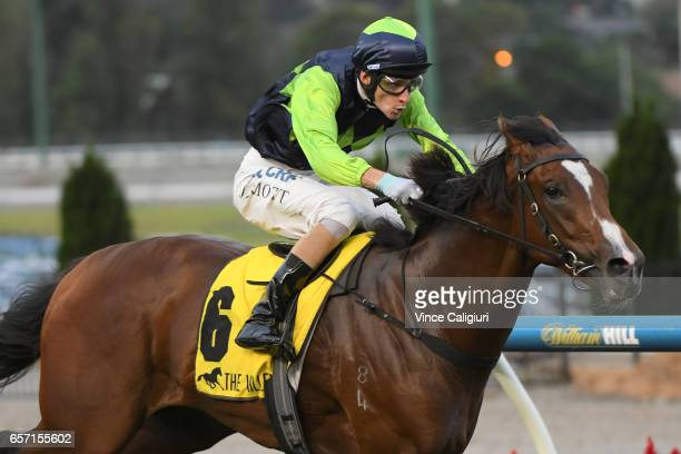 Jamie Mott riding Doubt I'm Dreaming wins Race 2 during Melbourne Racing at Mooney Valley Racecourse on March 24 2017 in Melbourne Australia