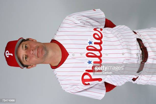 Jamie Moyer of the Philadelphia Phillies poses during photo day at Bright House Networks Field on February 24 2007 in Clearwater Florida