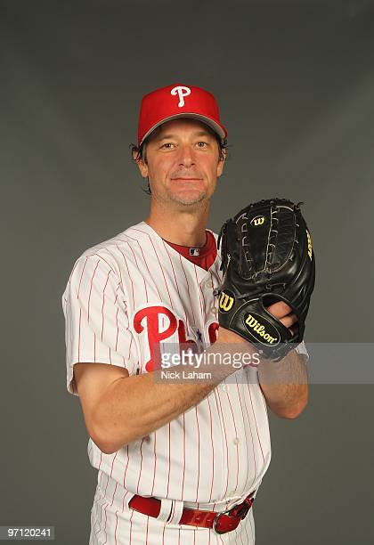 Jamie Moyer of the Philadelphia Phillies poses for a photo during Spring Training Media Photo Day at Bright House Networks Field on February 24, 2010...