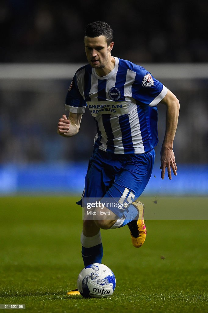 Jamie Murphy of Brighton & Hove Albion in action during the Sky Bet Championship match between Brighton and Hove Albion and Sheffield Wednesday at the Amex Stadium on March 8, 2016 in Brighton, United Kingdom.