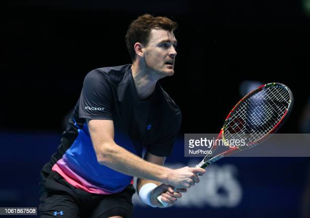 Jamie Murray against Raven Klaasen and Michael Venus during Day One Doubles of the Nitto ATP Finals played at The O2 Arena, London on November 11...