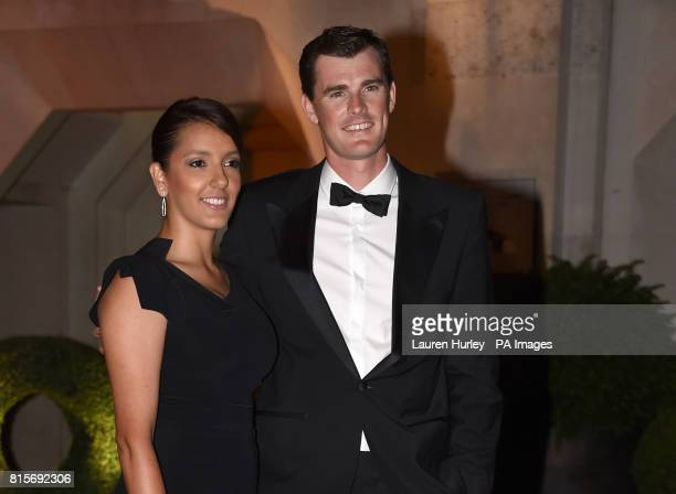 Jamie Murray and Alejandra Gutierrez arriving at the Wimbledon Champions Dinner 2017 at the Guildhall London
