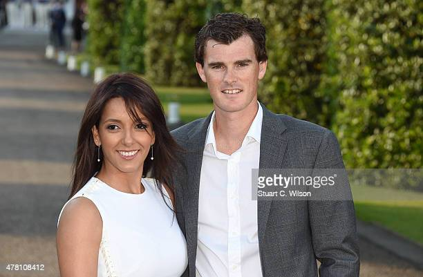 Jamie Murray and Alejandra Gutierrez attend the Vogue and Ralph Lauren Wimbledon party at The Orangery on June 22 2015 in London England