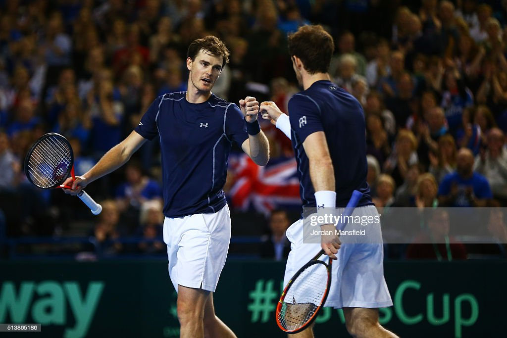 Great Britain v Japan - Davis Cup: Day Two