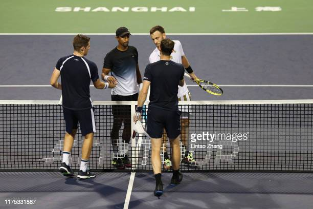 Jamie Murray of Great Britain and Neal Skupski of Great Britain during the 2019 Rolex Shanghai Masters Men's doubles quarterfinal match against Raven...