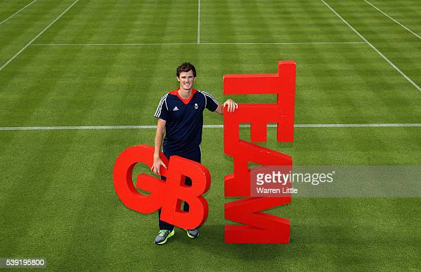 Jamie Murray of Great Britain poses for a picture after an announcement of tennis athletes named in Team GB for the Rio 2016 Olympic Games at The...