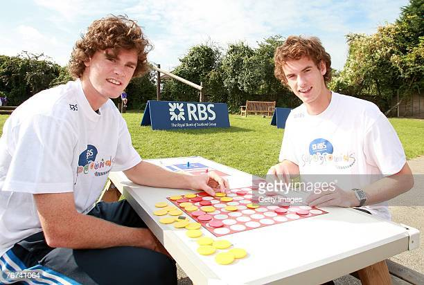 Jamie Murray plays with his brother Britains no 1 tennis player and Ambassador Andy Murray during the RBS Supergrounds Schools Investment Photocall...