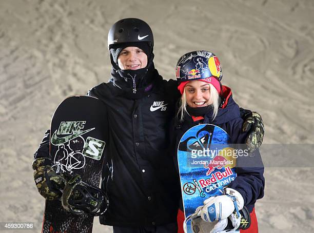 Jamie Nicholls and Aimee Fuller of Great Britain pose for a portrait during a Media Session on November 20 2014 at The Snow Centre in Hemel Hempstead...