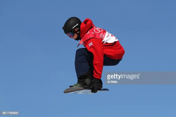 Jamie Nicholls of Great Britain competes during the Men's Big Air Qualification on day 12 of the PyeongChang 2018 Winter Olympic Games at Alpensia...
