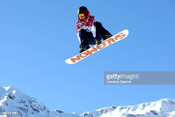Jamie Nicholls of Great Britain competes in the Men's Slopestyle Qualification during the Sochi 2014 Winter Olympics at Rosa Khutor Extreme Park on...