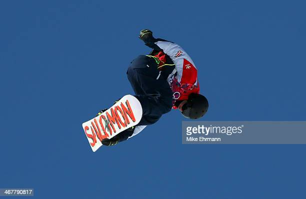 Jamie Nicholls of Great Britain competes in the Snowboard Men's Slopestyle Final during day 1 of the Sochi 2014 Winter Olympics at Rosa Khutor...