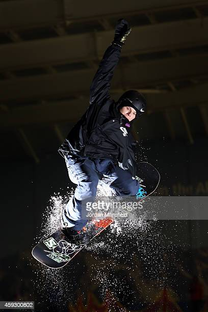 Jamie Nicholls of Great Britain in action during a Media Session on November 20 2014 at The Snow Centre in Hemel Hempstead England