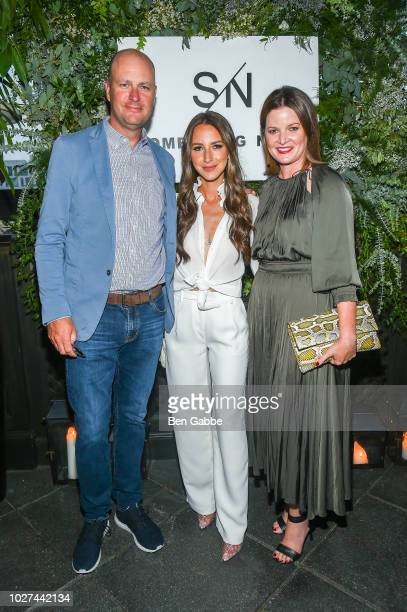 Jamie Nordstrom Arielle Charnas and Tricia Smith attend Nordstrom's SOMETHING NAVY Brand Launch Dinner At The Gramercy Park Hotel on September 5 2018...