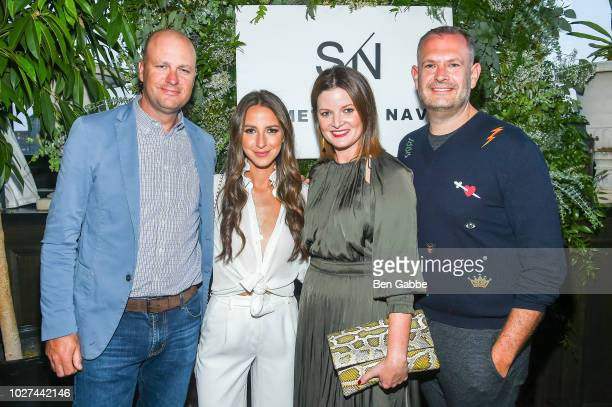Jamie Nordstrom Arielle Charnas Tricia Smith and Chris Wanlass attend Nordstrom's SOMETHING NAVY Brand Launch Dinner At The Gramercy Park Hotel on...