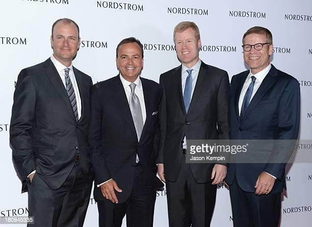Jamie Nordstrom, Rick J. Caruso, Erik Nordstrom and Blake Nordstrom attend the Nordstrom Gala at The New Nordstrom's At The Americana At Brand at The...