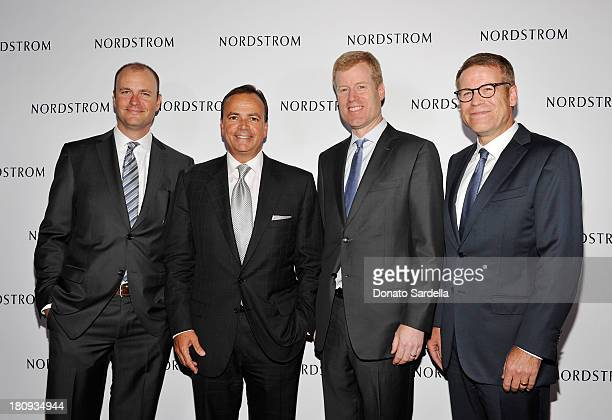Jamie Nordstrom, Rick J.Caruso, Erik Nordstrom and Blake Nordstrom attend Nordstrom store opening gala at The Americana at Brand on September 17,...