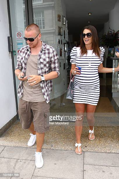Jamie O'Hara and Danielle Lloyd Sighted shopping on July 1 2010 in London England