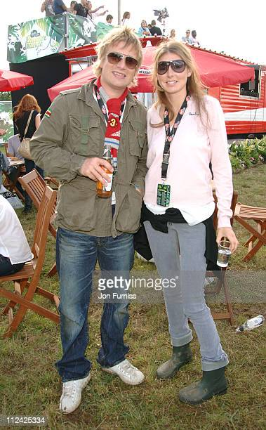 Jamie Oliver and Jools Oliver in the Virgin Mobile Louder Lounge at the V Festival