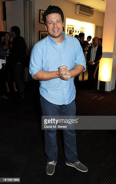 Jamie Oliver attends a special screening of 'Sunshine On Leith' hosted by Jamie Oliver and Dexter Fletcher at BAFTA on September 23 2013 in London...