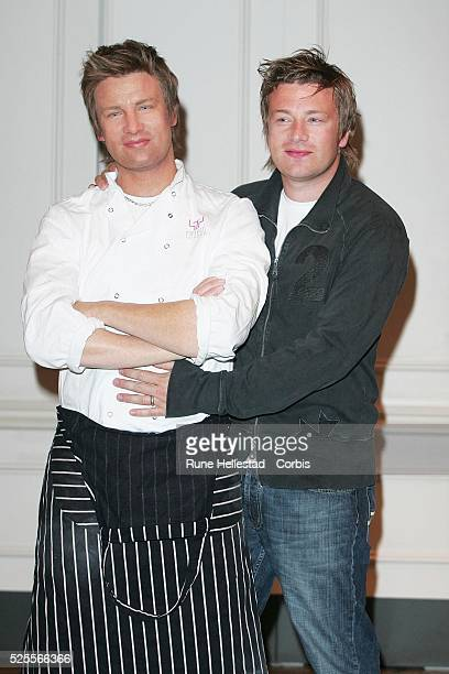 Jamie Oliver attends the unveiling of his waxwork at Madame Tussauds London