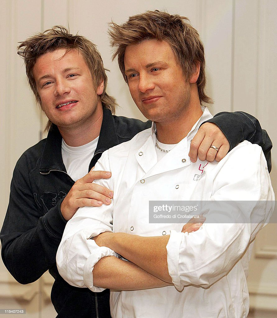 Jamie Oliver Unveils His Waxwork at Madame Tussauds in London
