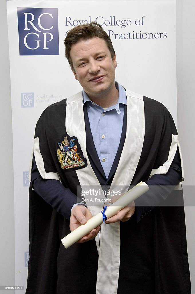 Jamie Oliver Receives Fellowship Of The Royal College Of GP's