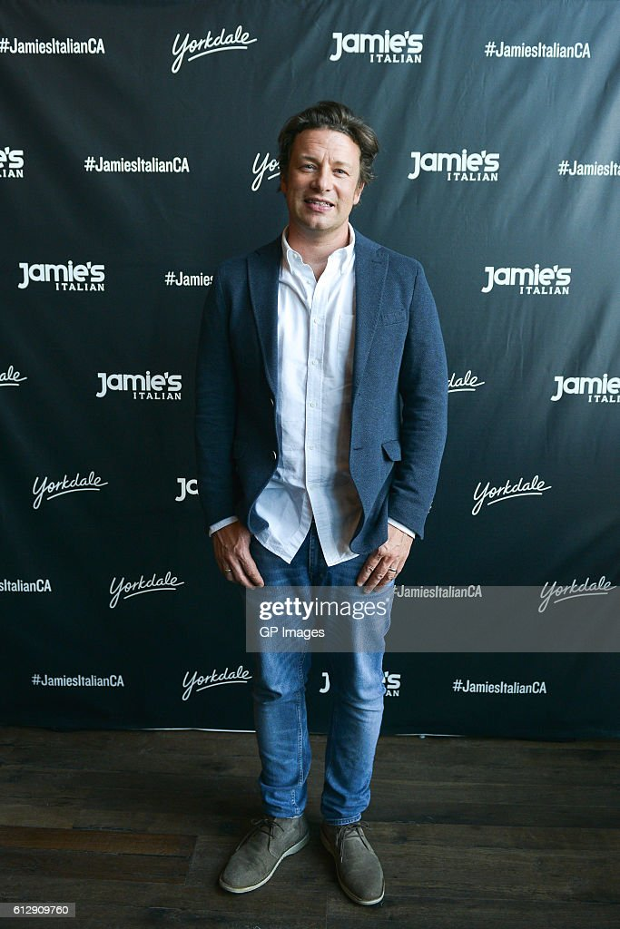 Jamie Oliver visits Jamie's Italian Canada at Yorkdale Shopping Centre on October 5, 2016 in Toronto, Canada.