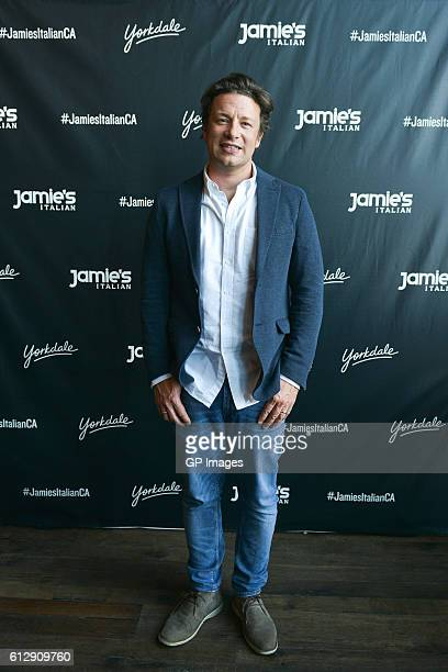 Jamie Oliver visits Jamie's Italian Canada at Yorkdale Shopping Centre on October 5 2016 in Toronto Canada
