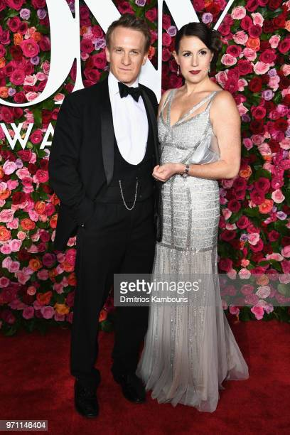 Jamie Parker and his wife Deborah Crowe attend the 72nd Annual Tony Awards at Radio City Music Hall on June 10 2018 in New York City