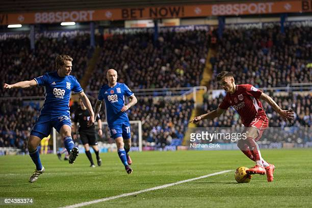 Jamie Paterson of Bristol City and Jonathan Spector of Birmingham City in action during the Sky Bet Championship match between Birmingham City and...