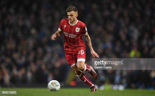Jamie Paterson of Bristol City during the Carabao Cup SemiFinal First Leg match between Manchester City and Bristol City at Etihad Stadium on January...