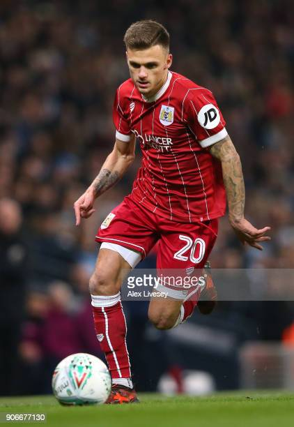 Jamie Paterson of Bristol City during the Carabao Cup SemiFinal match between Manchester City and Bristol City at Etihad Stadium on January 9 2018 in...